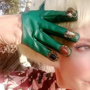 'Fingernail' Gloves. One of a Kind
