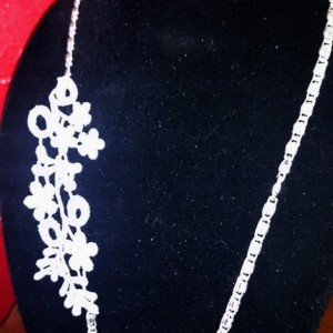 Venetian Lace Necklace, Bridal Jewelry, Lace Jewelry