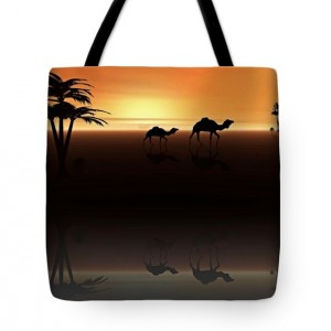Ships of the Desert Tote Bag