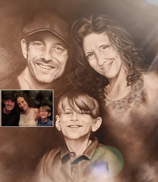 Custom Portrait from Photo, Commissioned Painting, Family or Memorial Portrait, Handmade Personalized Gifts for Mother's Day or Father's Day
