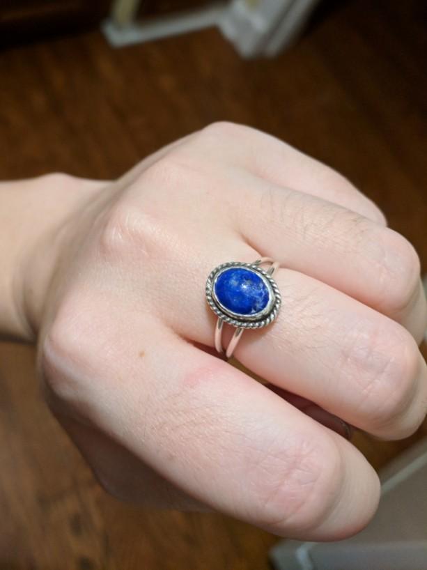 Lapis lazuli ring (size 6.5 US)