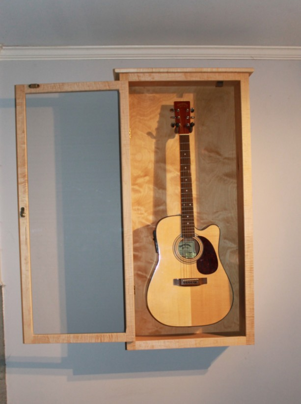 Acoustic Guitar Display Case Wall Mount Aftcra
