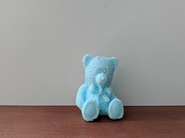 Teddy Bear Decorative Soap - set of 8 - Blue