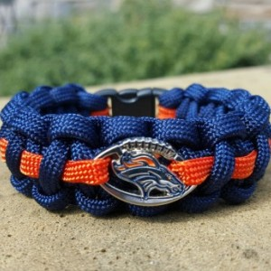 Denver Broncos  Paracord Bracelet NFL Officially Licensed Charm