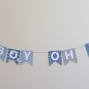 Oh Boy Oh Boy Banner - Baby Shower Banner - Baby Shower Decoration - Baby Boy - Boy Baby Shower - Oh Boy!