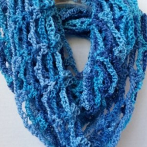 Infinity Mobius Cowl Scarf Multi Crocheted Sydney