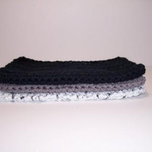 Set of 3 Handmade Crochet Cotton Dish,Wash,Bath Cloths,Dish Rags,Gifts,Housewarming