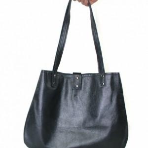 Gray Leather Hobo, leather handbag, dark gray women's tote