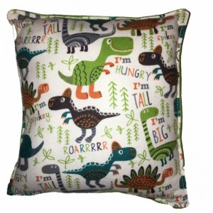 Dinosaur Pillow Cute Soft Flannel Pillow Kid Safe 100% Hypoallergenic Square Pillow Handmade