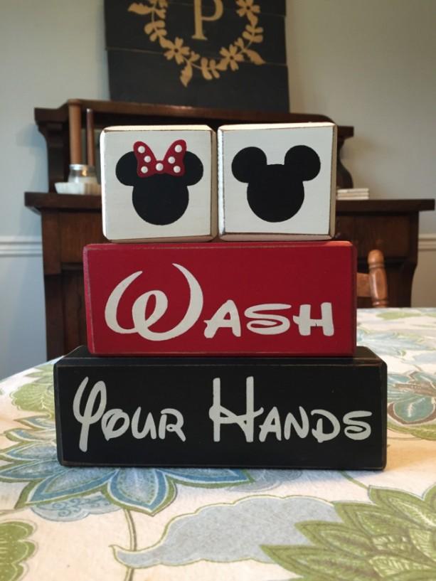 Mickey mouse minnie mouse bathroom decor kids bath wash - Disney mickey mouse bathroom decor ...