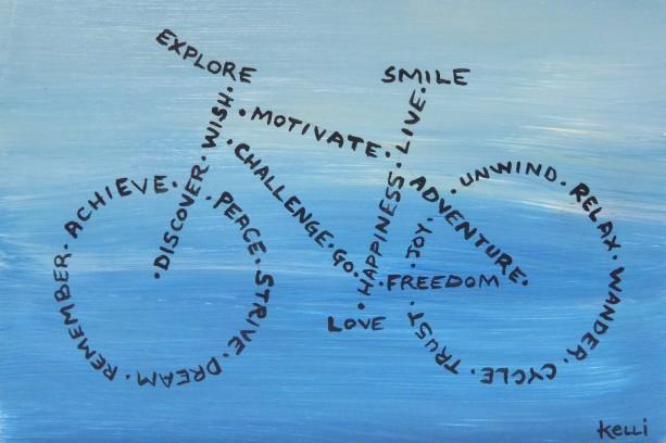 """""""Explore, Smile, Love"""" original painting"""