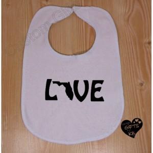 Love Bibs, Custom Baby Bib's, Baby Shower Gift, Christmas Gift, Personalized Gift,