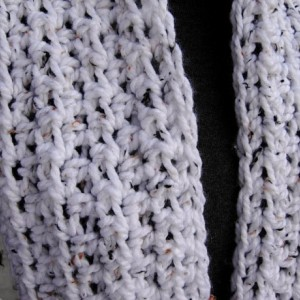 Women's White Tweed INFINITY SCARF with Black and Brown, Extra Soft Loop Cowl, Chunky Crochet Knit Warm Winter Lightweight Endless Circle..Ready to Ship in 3 Days