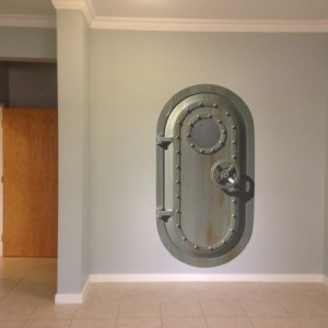 Submarine Door Wall Decal - Life Size - Perfect for Steampunk, Submarine or Space Ship Themed Rooms - Other Sizes Available