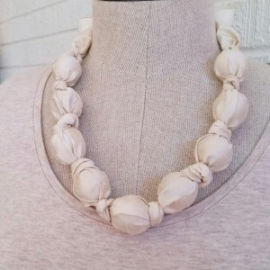 Silk Ivory Baby Safe Necklace - Free Shipping