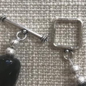 Semi-precious Onyx Beaded Necklace