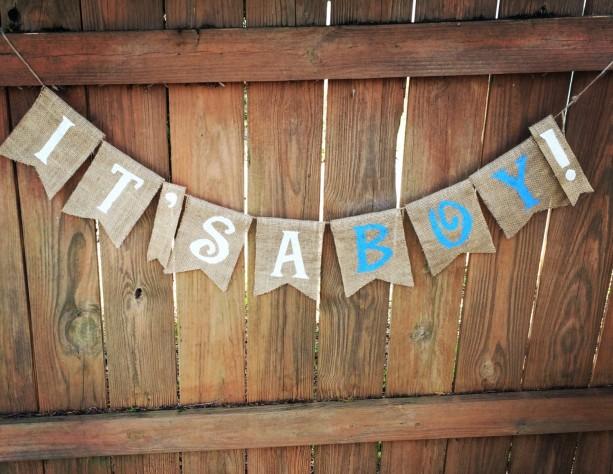 Burlap 'It's a Boy!' Banner