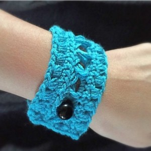 Crochet lace bracelet, cuff bracelet, blue bracelet, boho bracelet, crochet bracelet