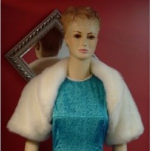 Ivory Faux Fur Wedding Bolero