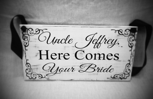Uncle Here Comes Your Bride Sign Wedding Signs Ring Bearer