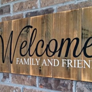 Welcome Sign | Welcome Home | Family Sign | Porch Decor | Wood Welcome Sign | Patio Decor | Housewarming Gift | Lake House Decor | Rustic