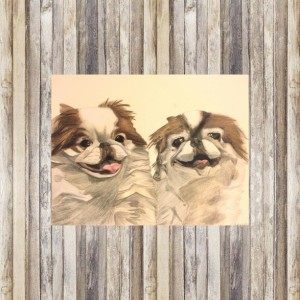 Custom Dog Portrait (2 Pets), Custom Pet Portrait, Dog Portrait, Pet Portrait, Pet Memorial, Dog Memorial, Pet Portrait Custom, Dog Art