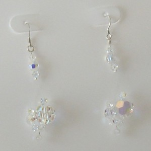 Swarovski Sterling Silver Chandelier Floating Dangle Earrings