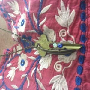 Patriotic Key necklace
