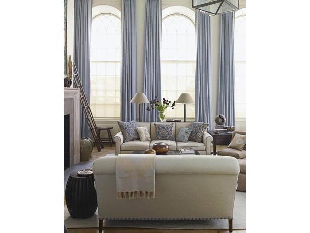 Porcelain Blue Dupioni Silk Curtains Aftcra