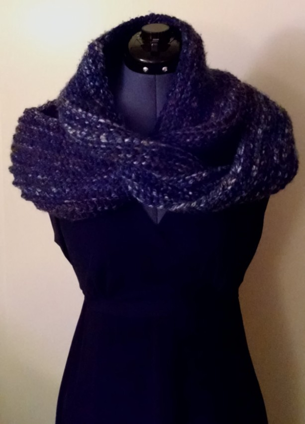 Knitted Infinity Scarf, Custom Made Knitted Scarf