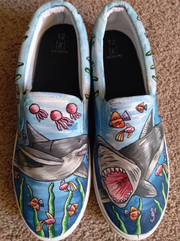 Shark Shoes -- Coral Reef Version