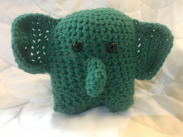 "Crocheted Elephant (5 1/2"")"