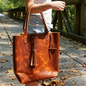 Large Handstitched Leather Tote