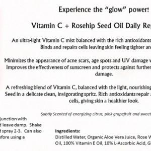 Vitamin C + Rose Hip Seed Oil Daily Repair Mist