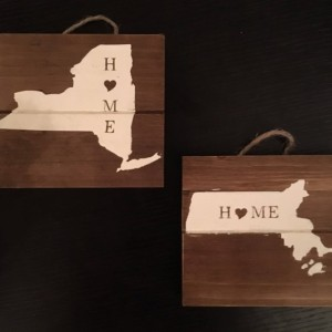 Mini Rustic State Signs