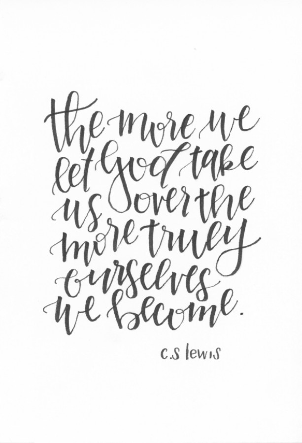C.S. Lewis Quote Art Print (8x10)