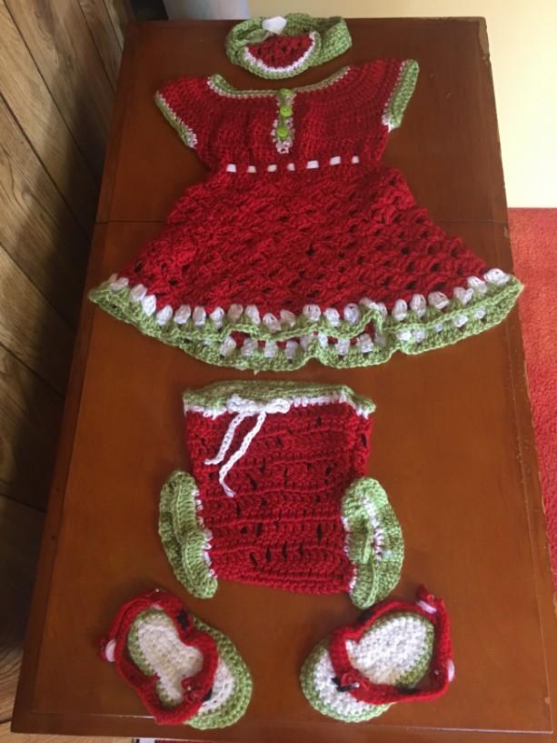 Watermelon dress set