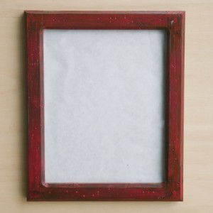 Forever 8 x 10   Distressed Red picture frame