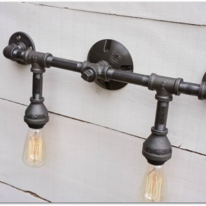 Industrial Iron Vanity Light