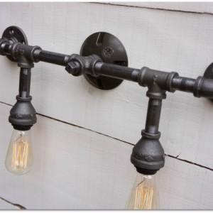 Industrial Iron Vanity Light