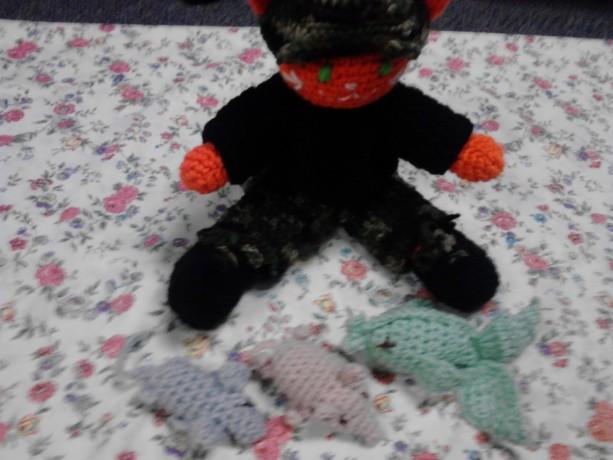 13in hunter stuffed kitty play set