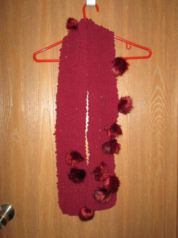 Women's Hand Knit Scarf- Brandywine