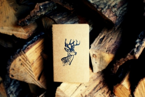 White-Tailed Stag Buck Deer Notebook Moleskine Journal