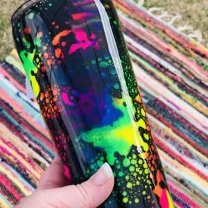 Neon Rainbow Tumbler