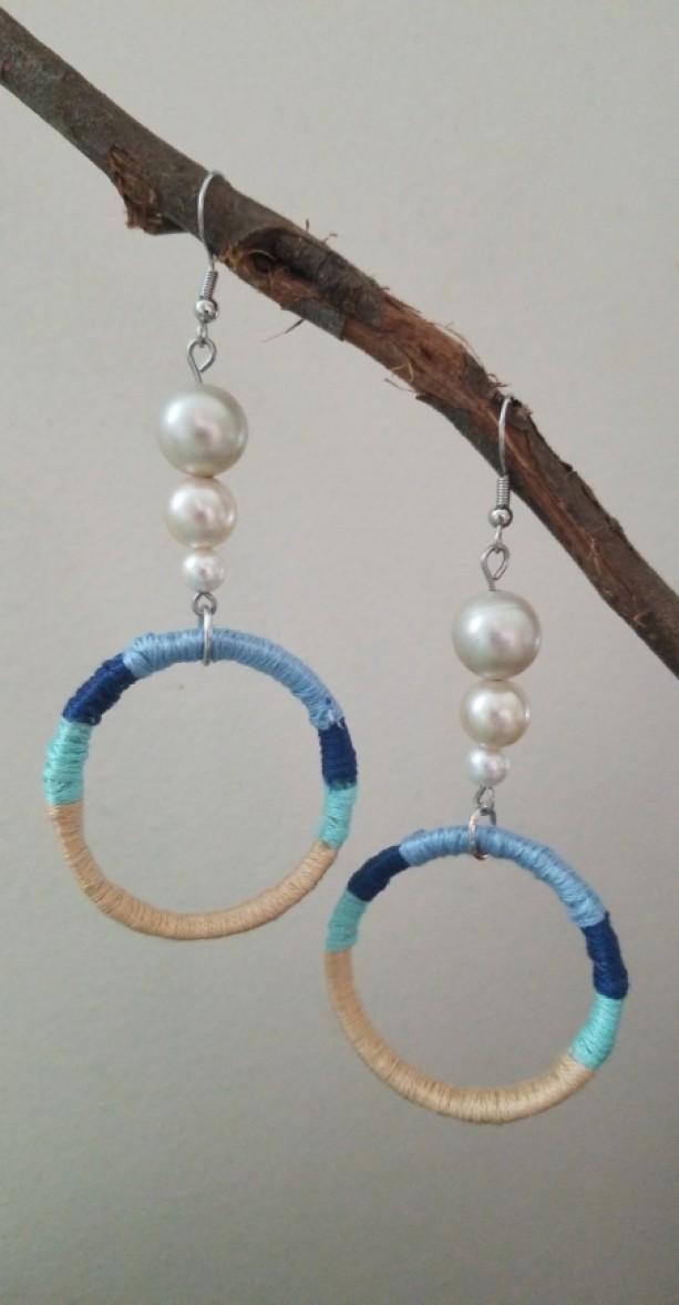 Ocean Cap Ring Earrings