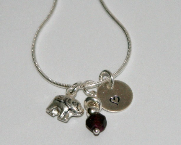 Forget Me Not Charm Necklace - Sterling Silver