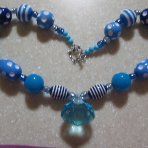 B5 Chunky Necklace, Kids Necklace, Childrens Necklace, Photo Prop, Gumball Necklace VISIONS of blue, blue and more blue