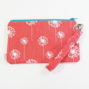 Medium Wristlet Zipper Pouch Clutch - Coral Dandi