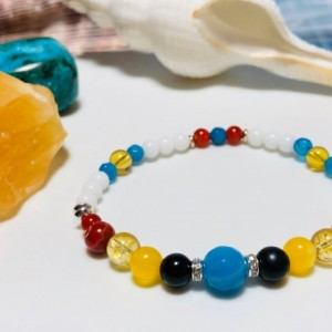 Sunshine Shungite Protection Bracelet - Young Miss  |  Protection  |  Behavior  |  Emotional  |  Self-Control  |  Support  |  Happiness