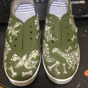 Dinosaur Fossil Lace Up